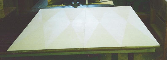 Maple Diamond Pattern Cabinet Doors